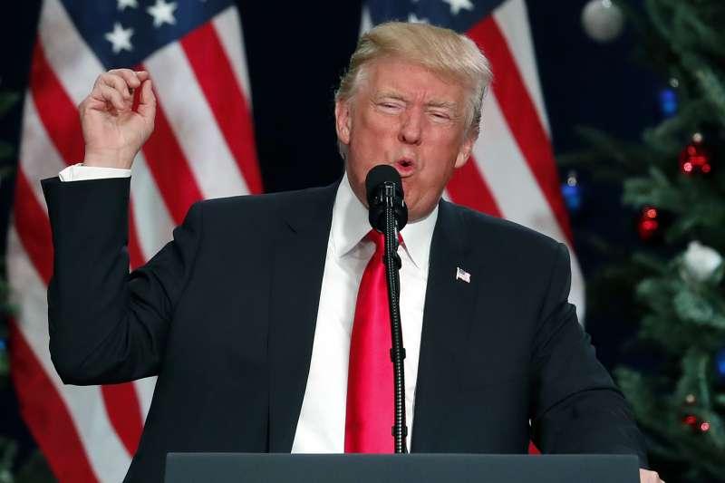 美國總統川普痛罵北韓最高領導人金正恩是「有病的小狗」(AP)