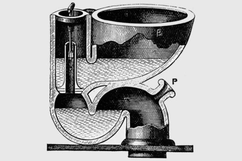 19世紀的版畫中的馬桶。(BBC中文網)