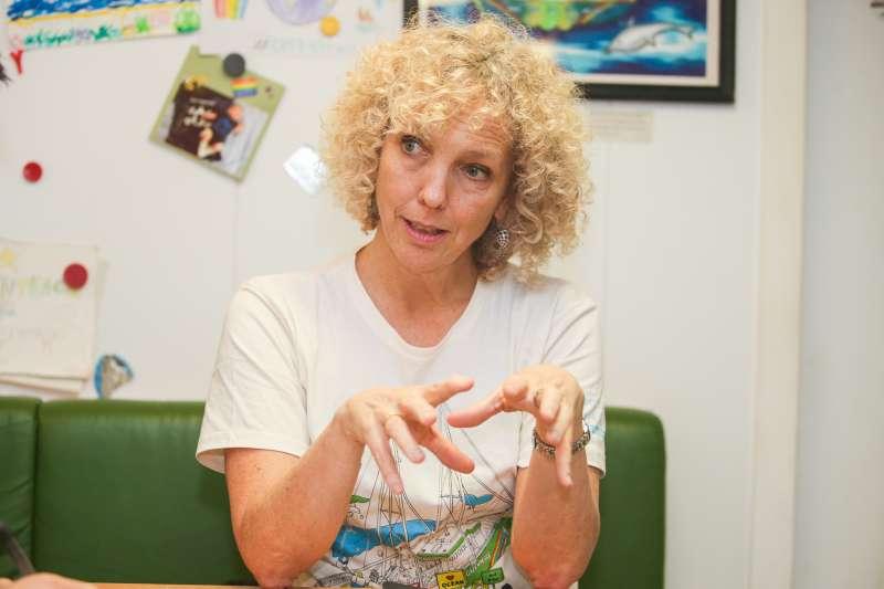 20171202-綠色和平組織-彩虹勇士號,基隆港,專訪綠色和平組織執行長 Jennifer Morgan。(陳明仁攝)