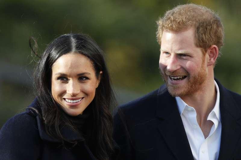 英國哈利王子與未婚妻梅根.馬克爾(AP)