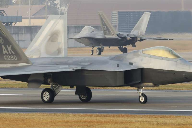 F-22。(美聯社)