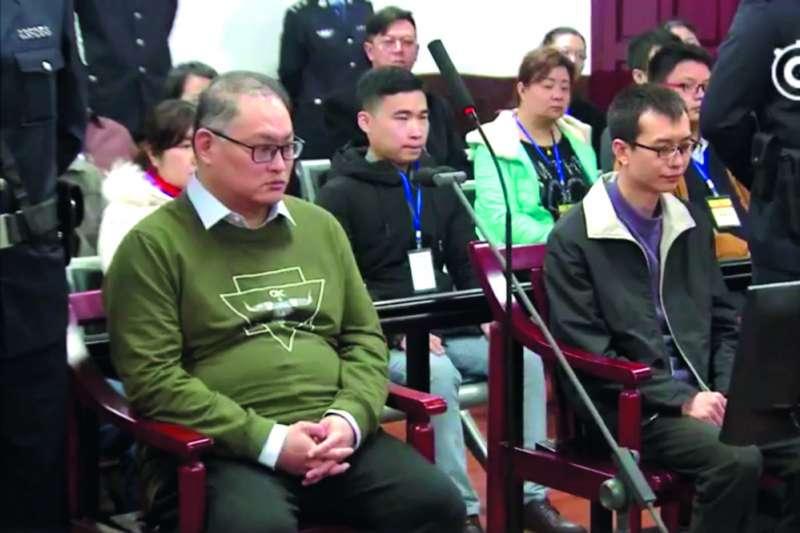 北京一位涉台事務高層私下指出,李明哲(左)因與中國境內搞串聯才被起訴判刑。(翻攝自岳陽市中級人民法院微博)