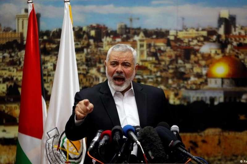 哈馬斯領導人哈尼亞呼籲巴勒斯坦人第三次起義。(德國之聲)