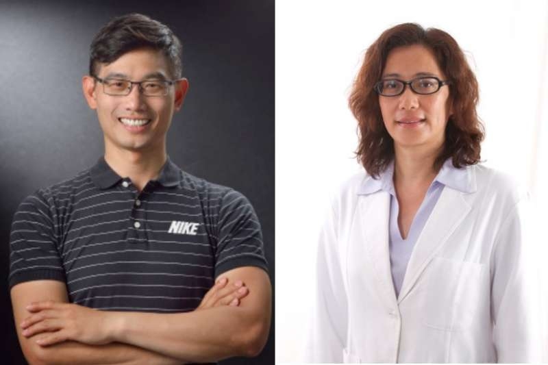 脊椎保健專家鄭雲龍(左)、資深營養師袁毓瑩(右)