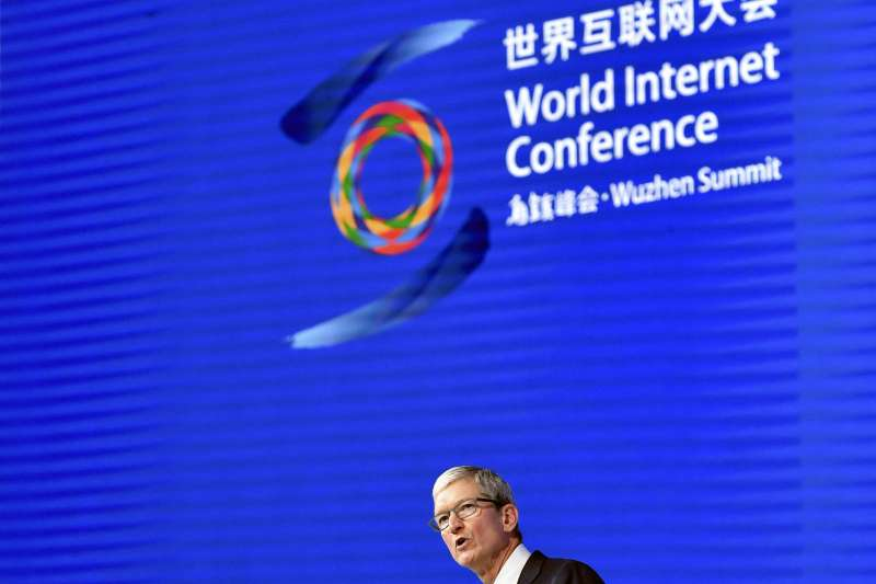 在世界互聯網大會上,北京政府強調其「網路主權」概念,西方IT大亨們則表現出逆來順受。(AP)