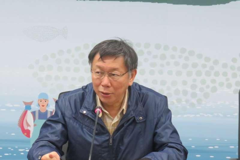 台北市長柯文哲11日表示,未來實施智慧支付模式後,不但安全很多,速度也會快很多。(台北市政府提供)