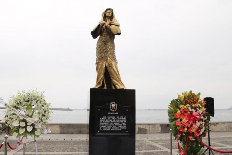 菲律賓馬尼拉的慰安婦雕像。