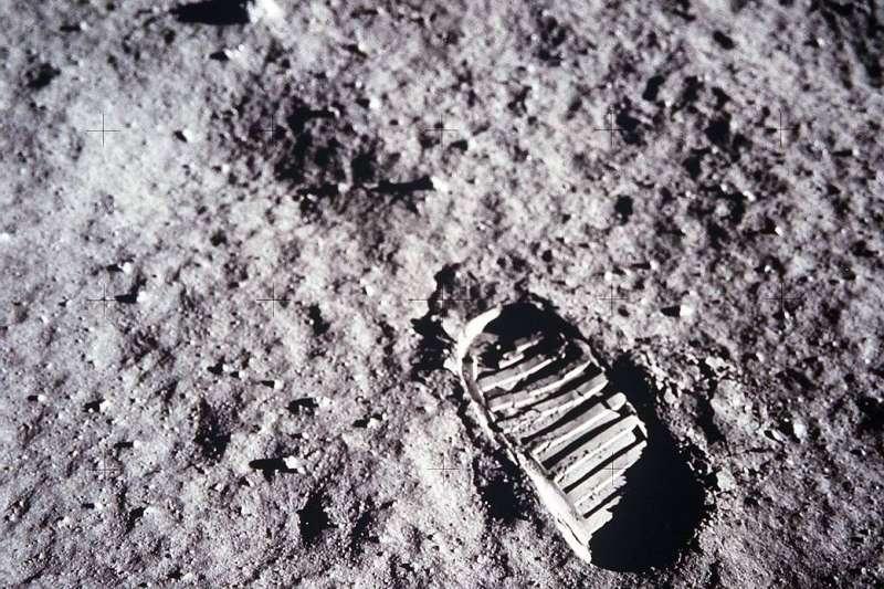 阿波羅11號為人類第一次登月任務留下的足跡。(Photo Credit:NASA)