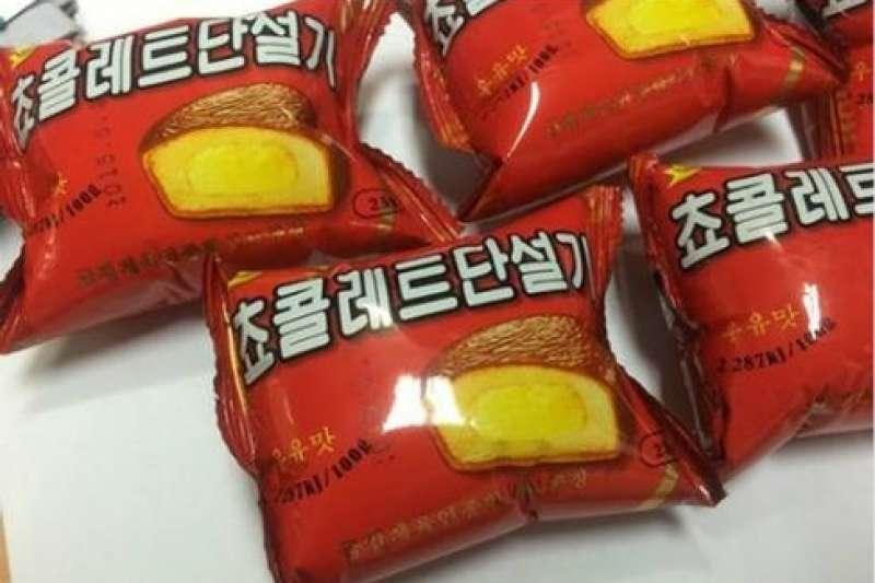 北韓的山寨巧克力派。