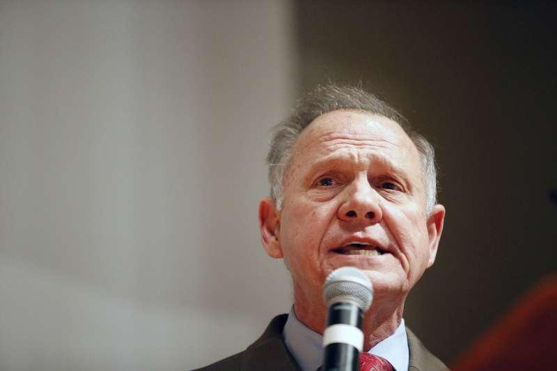 共和黨阿拉巴馬州參議員候選人摩爾。(美聯社)