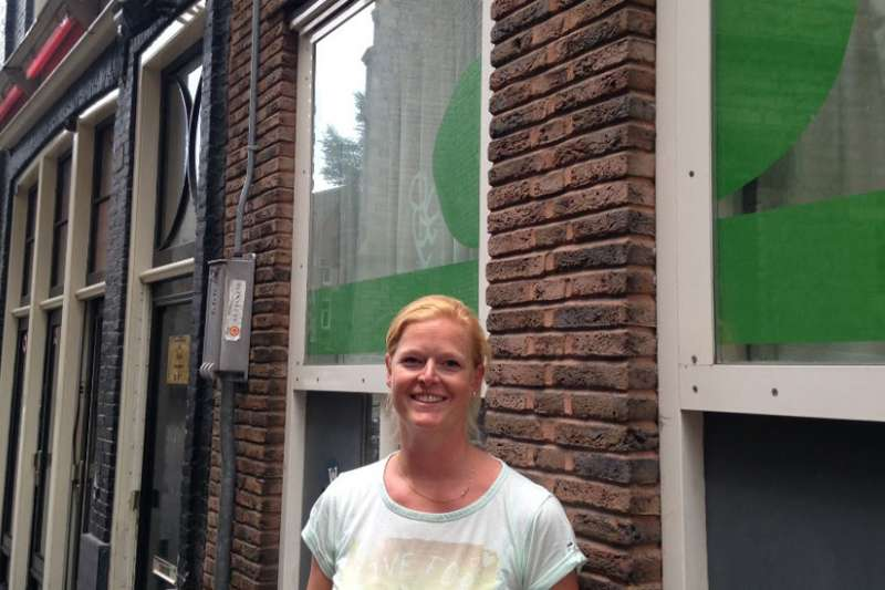 位於阿姆斯特丹紅燈區幼稚園。(BBC中文網)
