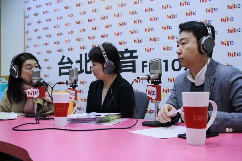 20171213- 國民黨立委盧秀燕(中)13日早接受《蔻蔻早餐》專訪。(蔻蔻早餐提供)