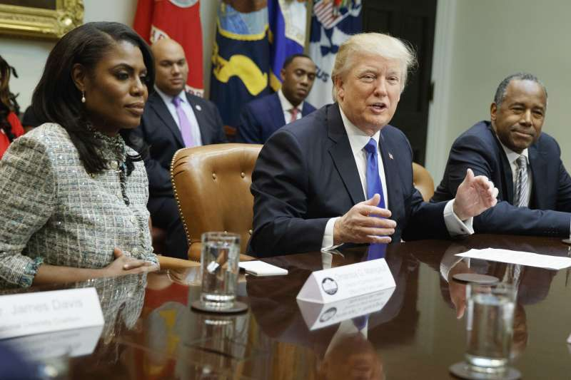 美國白宮公共事務主任、實境秀《誰是接班人》前參賽者歐瑪蘿莎遭到「被請辭」(AP)