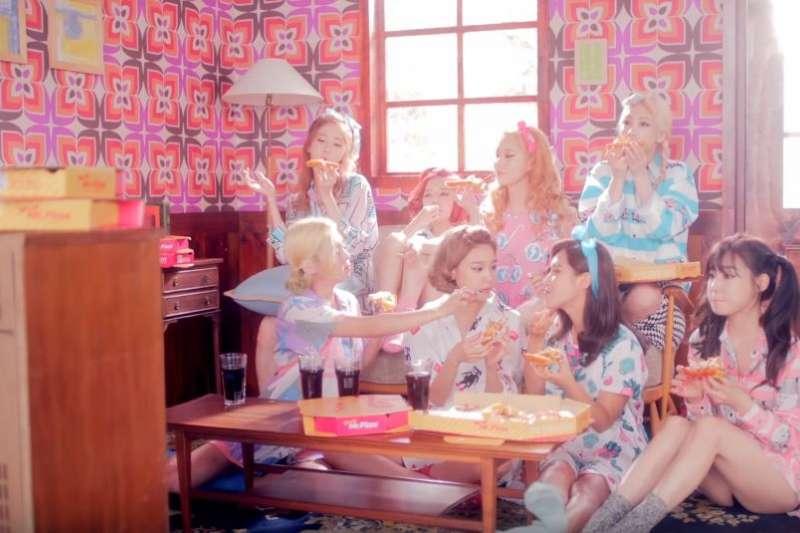 韓國女子團體少女時代。(截圖自SMTOWN@YouTube)