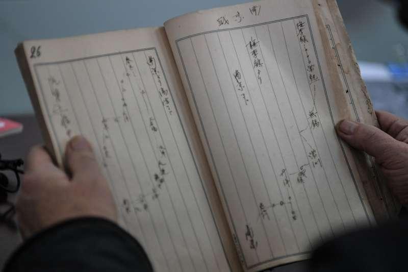 日軍侵華暴行又添新罪證,披露南京大屠殺更多細節。這是森岡周治日記中記錄的作戰路線圖(新華社)