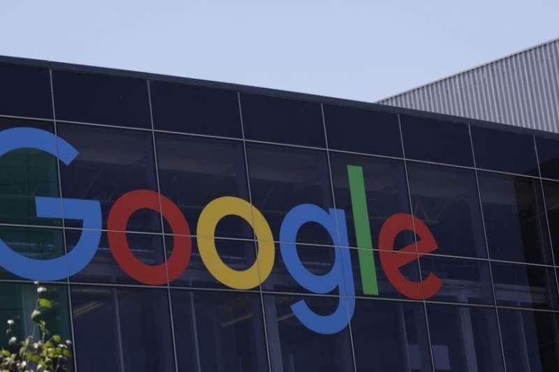 加州山景城谷歌Google總部的招牌。(美國之音)