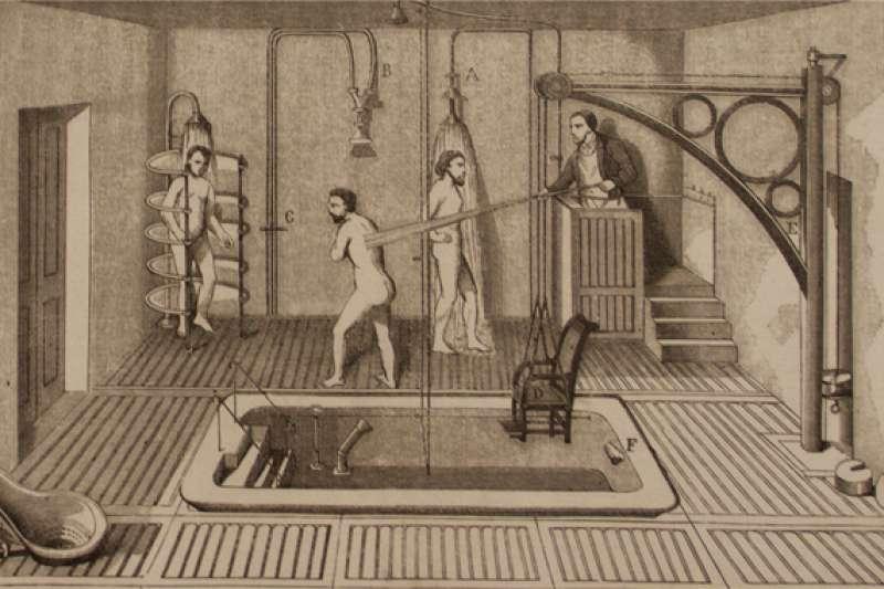 位於義大利威尼斯的聖塞爾沃洛島(San Servolo)上的醫院以前曾專收精神病患,如今島上設有精神病院博物館,藝文氣息濃厚。(圖/澎湃新聞提供)