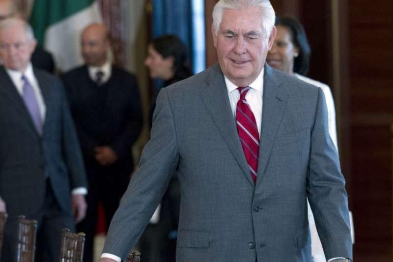 美國國務卿提勒森星期四在美國務院。(美國之音)