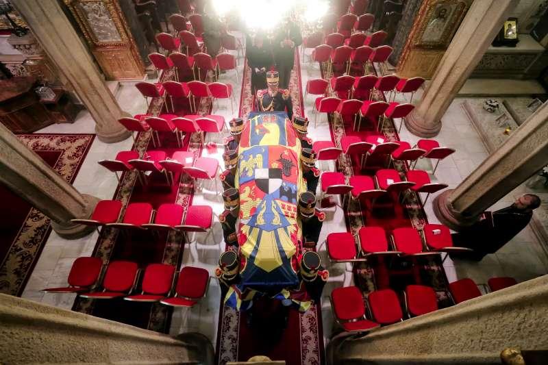 羅馬尼亞末代國王米哈伊一世(King Michael)葬禮。(美聯社)