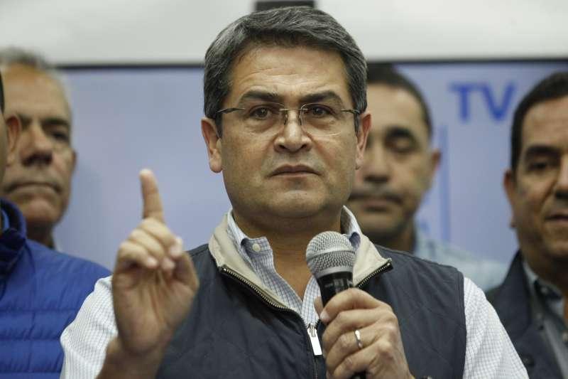 宏都拉斯總統總統葉南德茲(Juan Orlando Hernández)(資料照,AP)