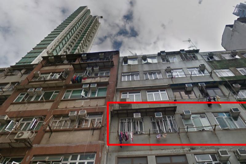 發生恐怖分屍案的香港旺角廣東道1182號萬福樓3樓。