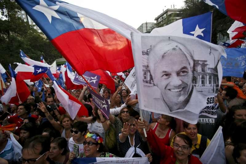 智利總統決選:總統當選人皮涅拉的支持者欣喜若狂(AP)
