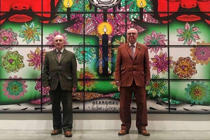 英國知名雙人藝術組合「吉爾伯特和喬治」(Gilbert & George),抱持初衷堅持做關乎生活的藝術。(圖/取自Instagramers London fb)