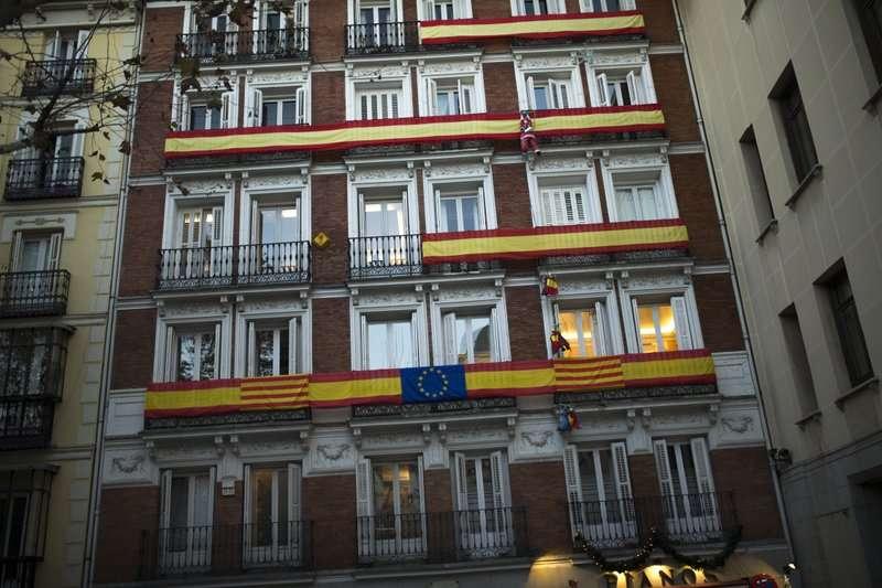加泰隆尼亞區議會選舉將在21日舉行。(美聯社)