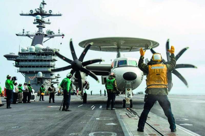 川普將中國定調為「戰略競爭對手」後,有待觀察台灣是否成為川普操作美中關係槓桿。(翻攝自U.S Navy臉書)