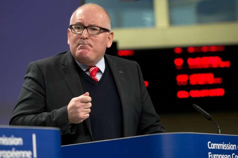 歐盟執委會副主席蒂默曼斯(Frans Timmermans)。(美聯社)