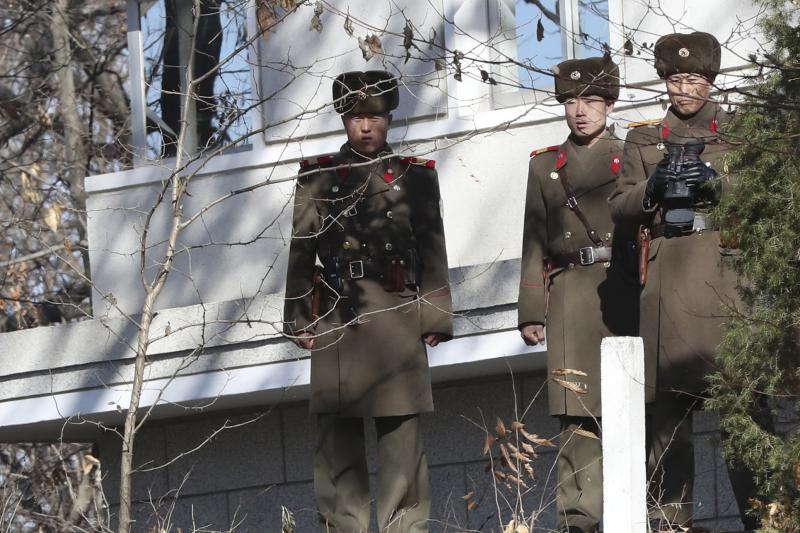 南北韓邊界近來頻傳北韓士兵越界投誠,氣氛緊張(AP)