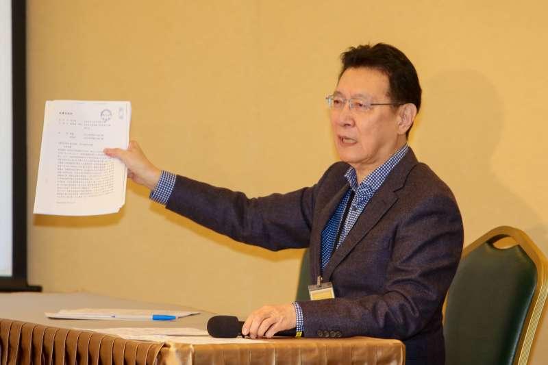 20171221-中廣董事長趙少康在「中國廣播股份有限公司是  否為社團法人中國國民黨之附隨組織」聽證程序陳述。(陳明仁攝)