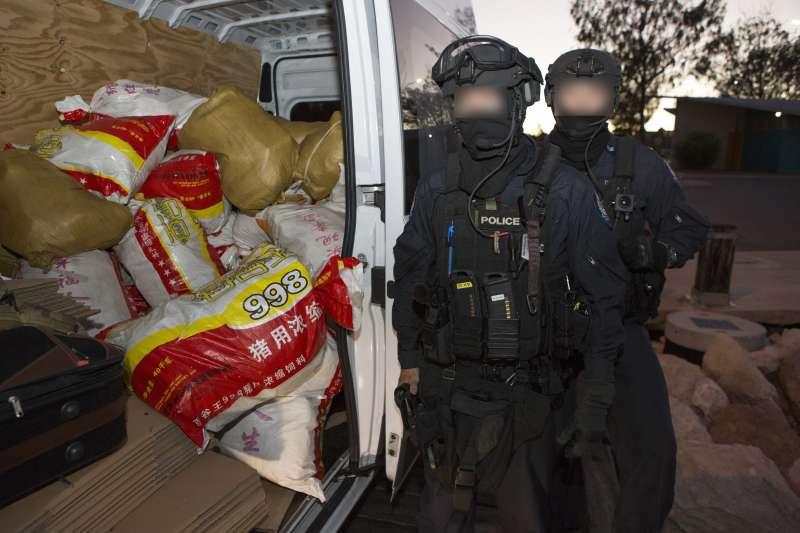 台澳跨國合作於澳洲西岸破獲毒品走私案。(法務部調查局提供)