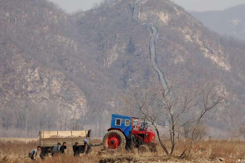 和中國之間的邊境線也是北韓經濟的生命線。(德國之聲)
