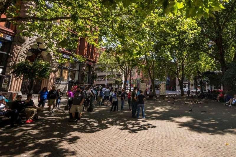 拓荒者廣場(Pioneer Square)。(取自Seattle.gov)