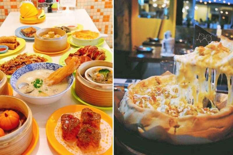 跨年不知道要去哪吃,這幾家異國餐廳值得列入考慮!(圖/左取自鑫華茶餐廳@Facebook,右取自Okey Dokey@Facebook)