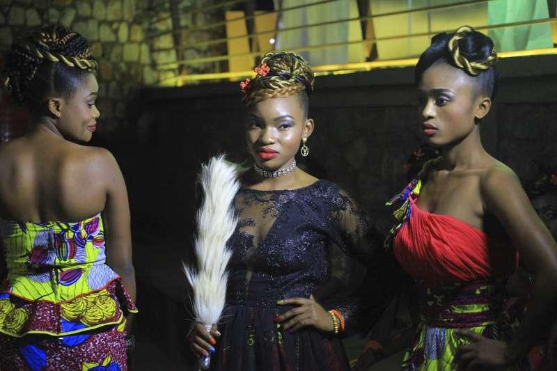 剛果貝尼市(Beni)的時裝秀。(美聯社)