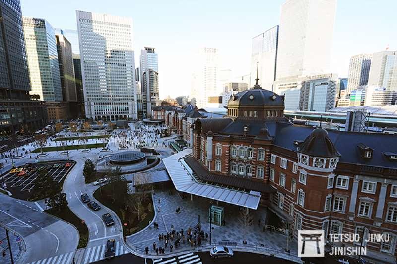 修復完成的東京車站紅磚驛舍與站前廣場,將成為東京新地標。(圖/作者|想想論壇提供)