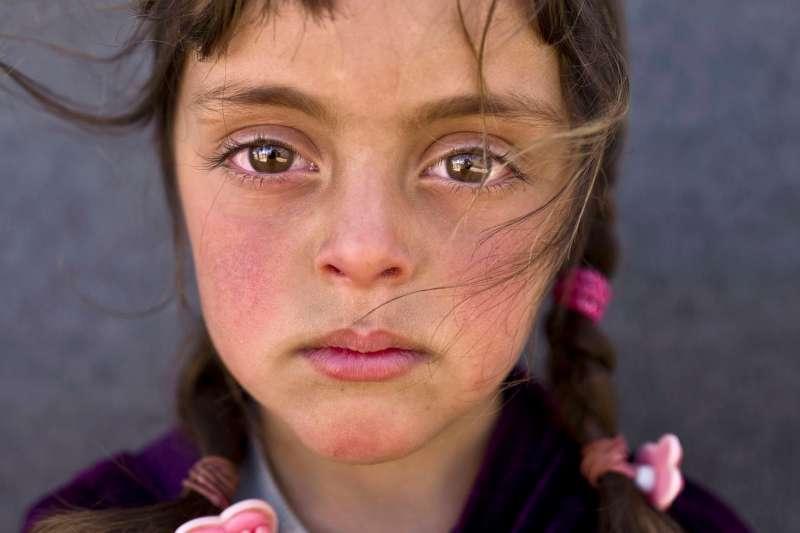 一名五歲的敘利亞難民女童(AP)