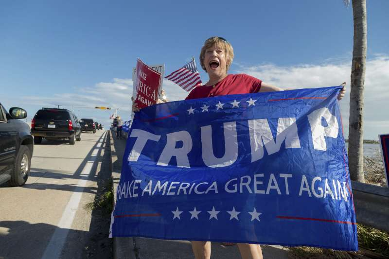 美國的川普支持者。(美聯社)