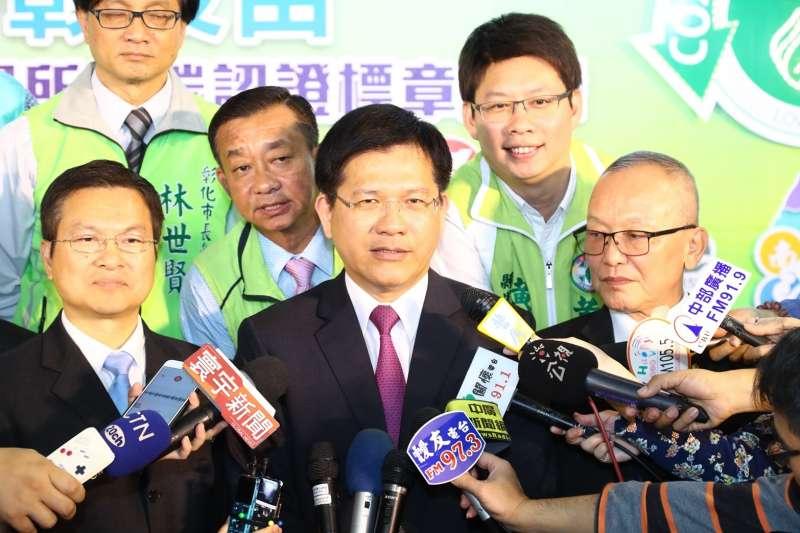 台中市長林佳龍呼籲臨時會排入空汙法,不過,民進黨沒理他。(圖/臺中市政府提供)