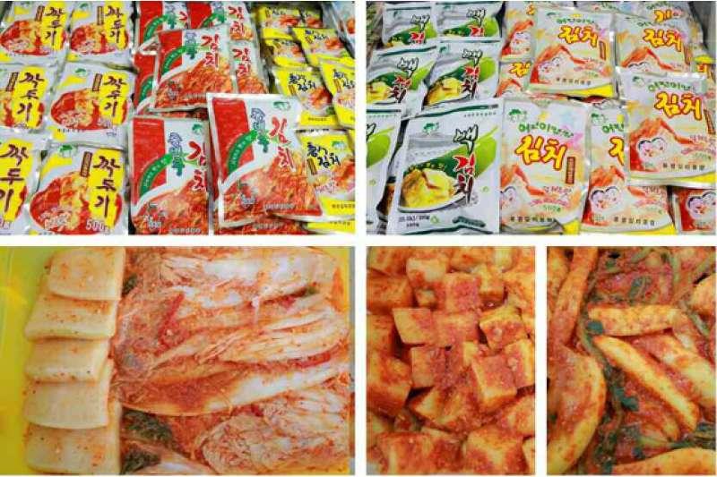 「柳京泡菜廠」中的產品。(取自勞動新聞)