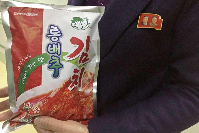 「柳京泡菜廠」的產品。(美聯社)