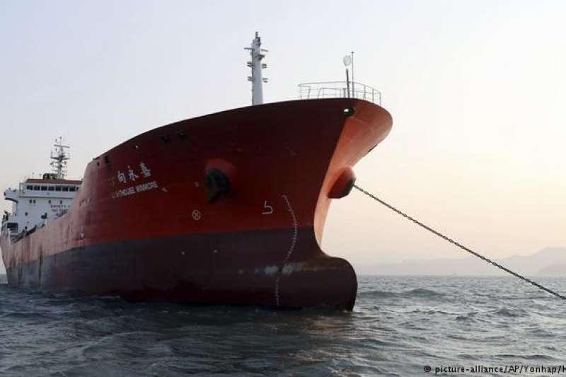 南韓扣押的船隻「Lighthouse Winmore」。(德國之聲)