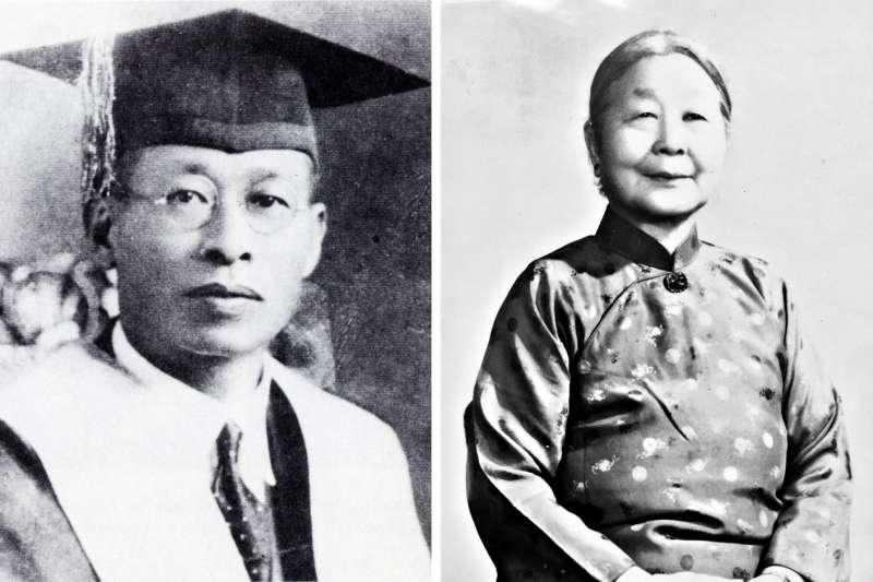 台灣第一留美博士林茂生與妻子王采蘩(左圖取自wikimedia commons;右圖為遺族林玲文提供)