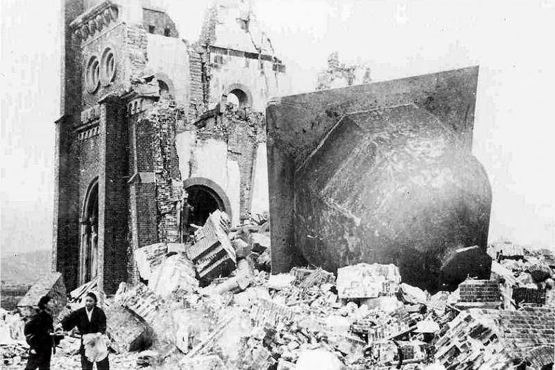 1945年8月9日,長崎原爆,浦上天主堂(Wikipedia / Public Domain)