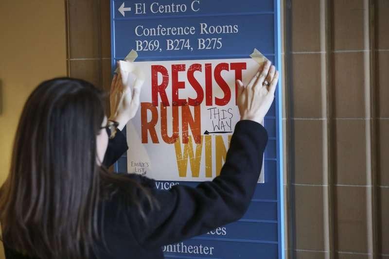 去年12月9日,「愛蜜莉名單」在德州達拉斯的中央學院(El Centro College)為有意參選公職的女性舉辦訓練課程(AP)