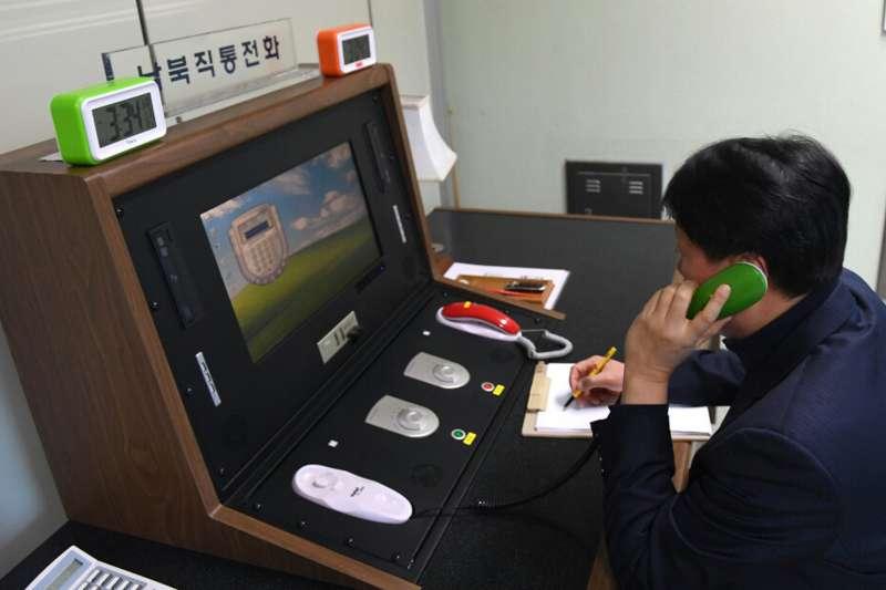 南北韓3日透過板門店聯絡管道接上線。(美聯社)