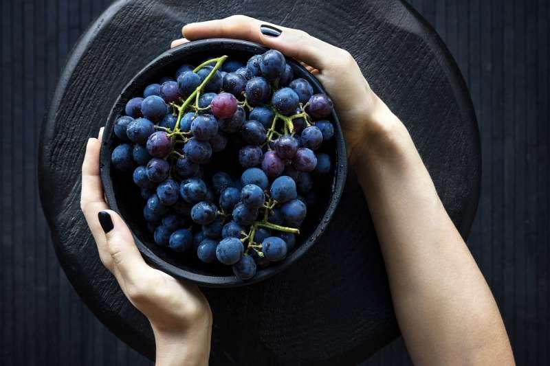 紫葡萄能夠提振精神,有助護眼、抗老。(圖/StockSnap@pixabay)