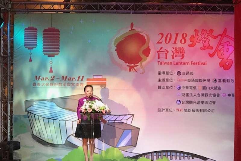 「2018台灣燈會」主燈(忠義天成)暨小提燈(達力狗)造型發表。2(取自交通部觀光局)